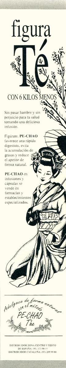 1991 PE-CHAO slimming tea Spain (half page Hola)
