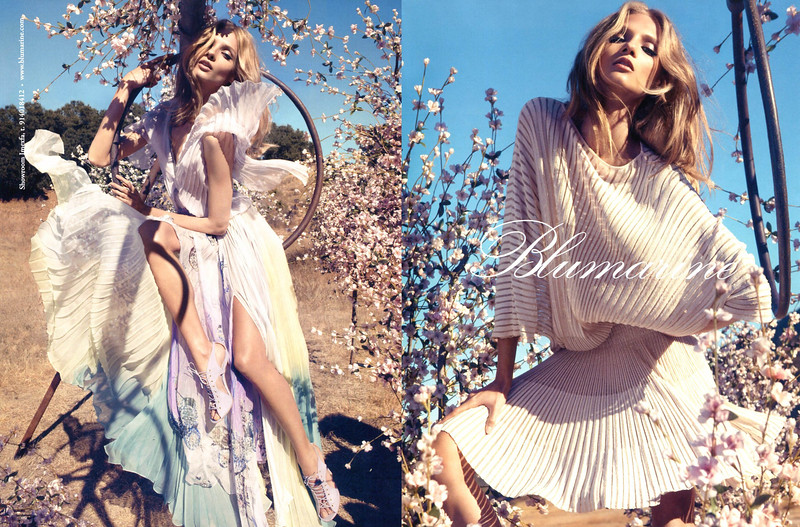 2013 BLUMARINE Spring-Summer fashion Spain (spread Vogue) featuring Anna Selezneva