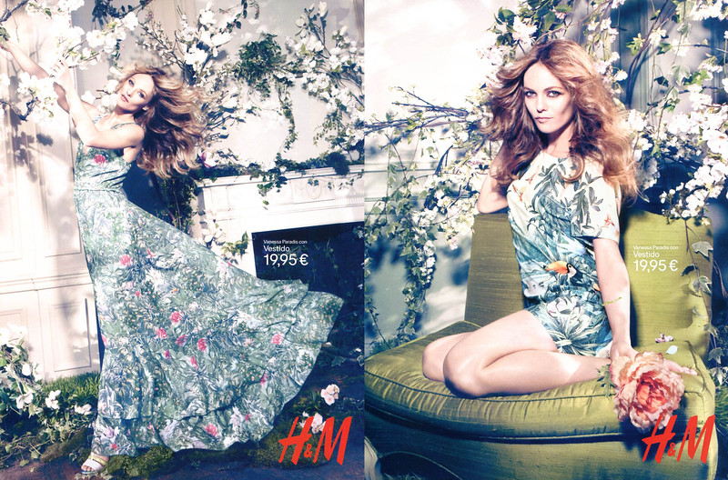 2013 H&M Spring-Summer 2013 Spain (spread Vogue) featuring Vanessa Paradis