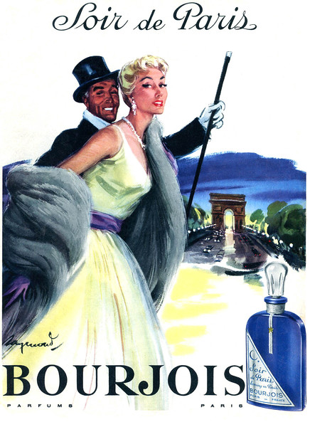 1956 BOURJOIS Soir de Paris fragrance France