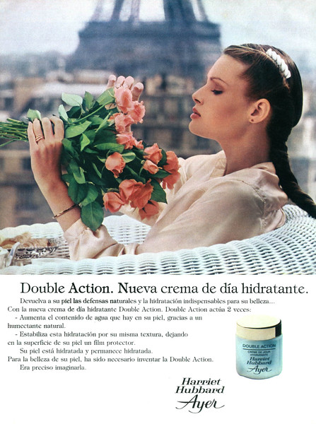 1980 HARRIET HUBBARD AYER Double Action moistuzinig cream Spain (Telva)