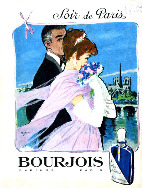 1959 BOURJOIS Soir de Paris fragrance France