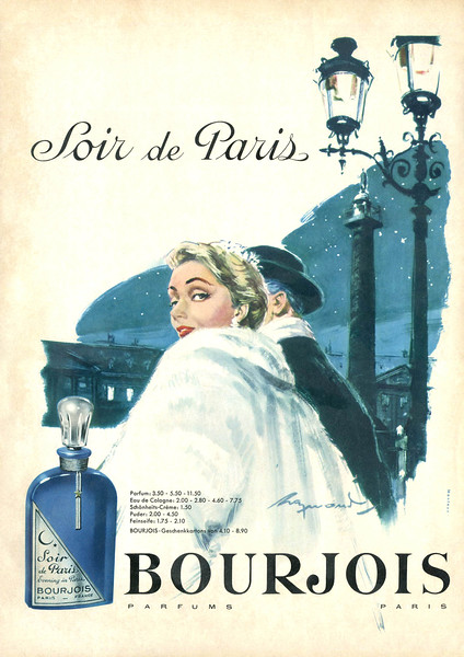 1956 BOURJOIS Soir de Paris fragrance Germany