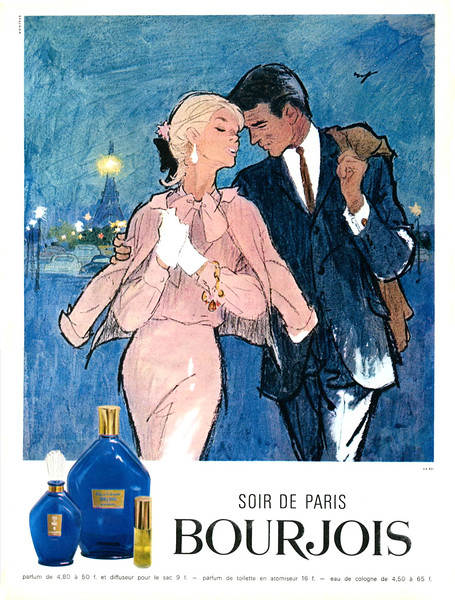 1964 BOURJOIS Soir de Paris fragrance France