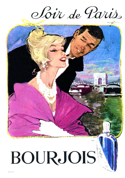 1961 BOURJOIS Soir de Paris fragrance France