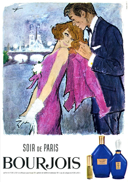 1965 BOURJOIS Soir de Paris fragrance France