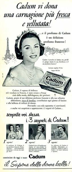 1958 CADUM soap: Italy (half page)