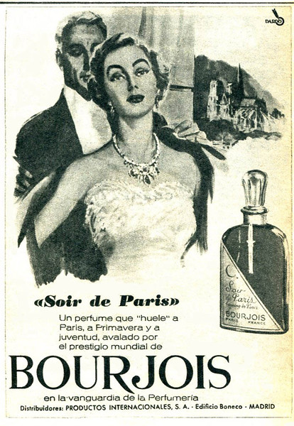 1961 BOURJOIS Soir de Paris fragrance Spain small format