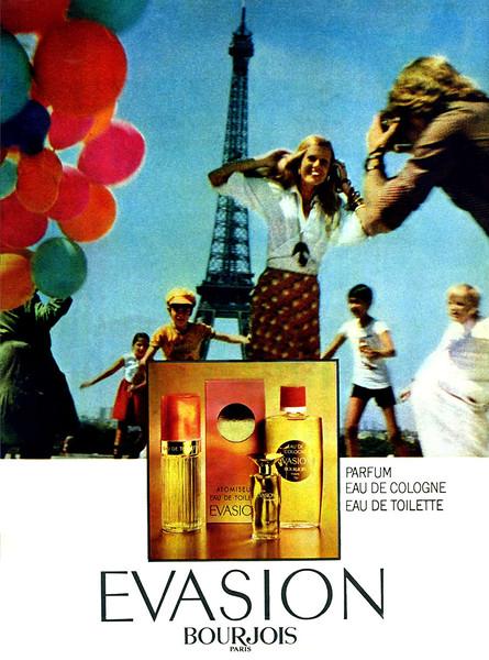 1975 BOURJOIS Evasion perfume  Spain