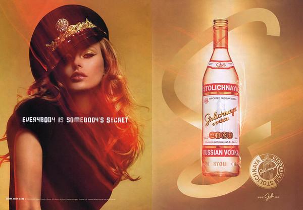 2009 STOLICHNAYA vodka 2009 US (spread Details)