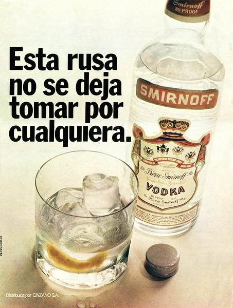1972 SMIRNOFF vodka Spain (La Actualidad Española)