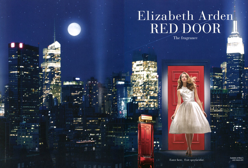 2011 ELIZABETH ARDEN Red Door fragrance US (spread Elle)