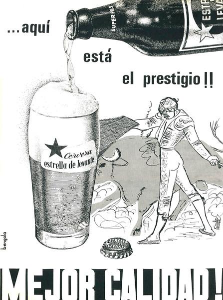 1965 ESTRELLA DE LEVANTE beer Spain