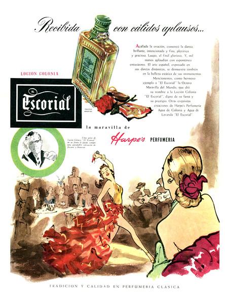 1951 HARPE'S Escorial fragrance   Argentina (Para Ti)