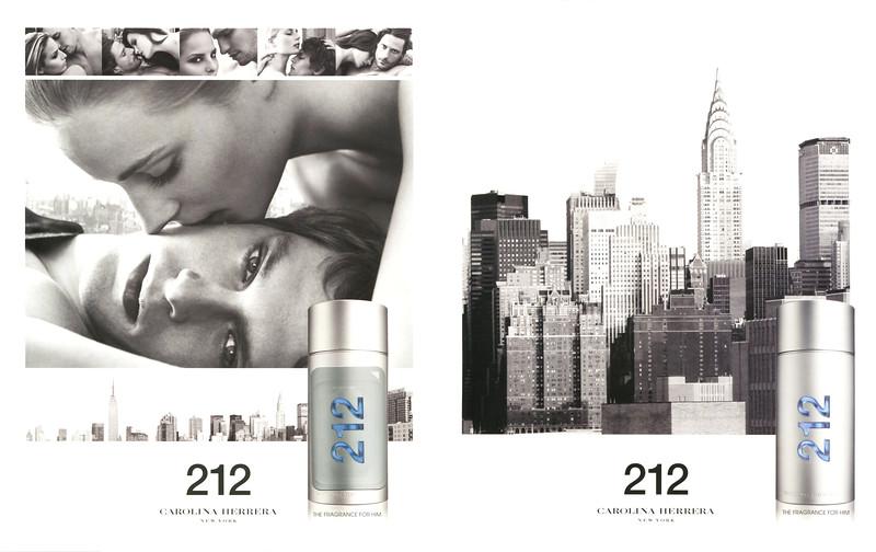 2015 CAROLINA HERRERA 212 Men fragrance Spain (recto-verso with scent sticker Icon)