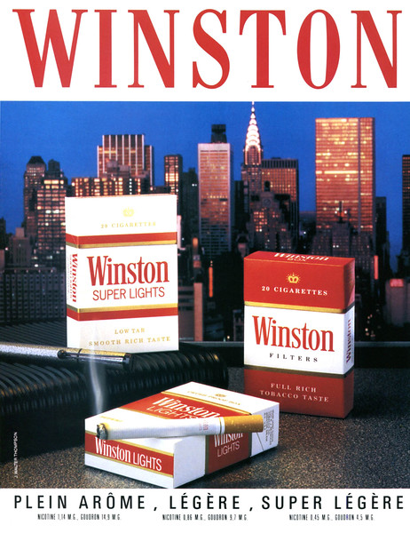 1987 WINSTON cigarettes France