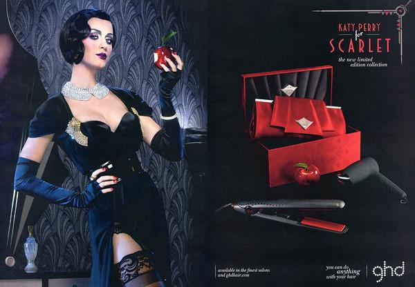 2011 GHD Scarlet hair straighttener UK (spread Cosmopolitan)  faturing Katy Perry