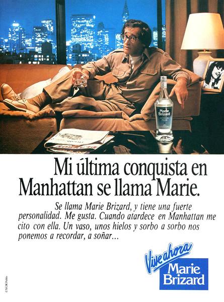 1980 MARIE BRIZARD anisette Spain (Penthouse)