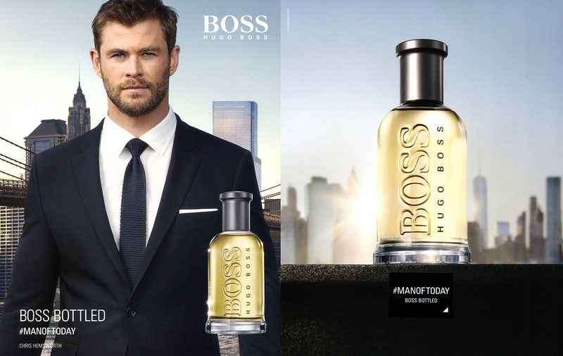 2017 BOSS Bottled fragrance Spain (recto-verso Icon) - featuring Chris Hemsworth'