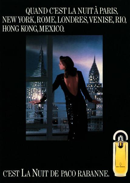 1987 PACO RABANNE La Nuit fragrance: France