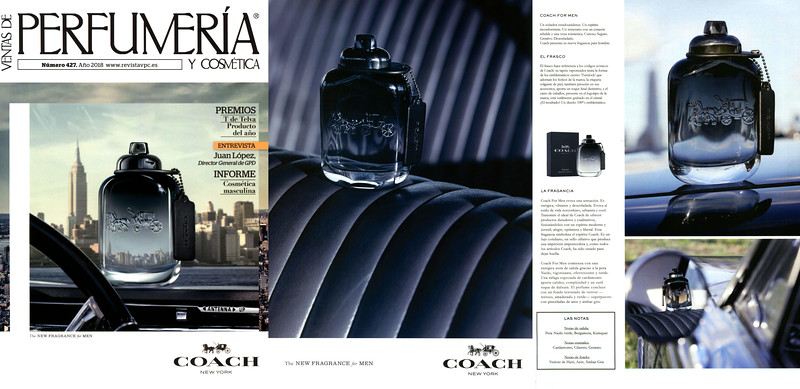 2018 COACH for Men fragrance: Spain (3 pages VPC)
