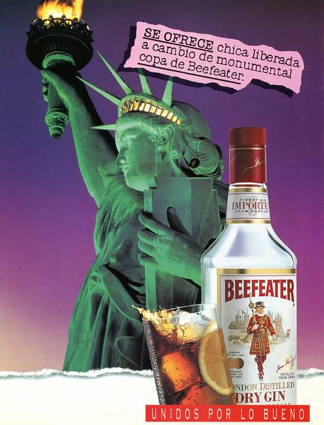 1995 BEEFEATER gin Spain (Cosmoplitan)