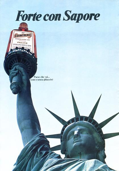 1980 COINTREAU liquor Italy (Vogue) 'Strong & tasty'