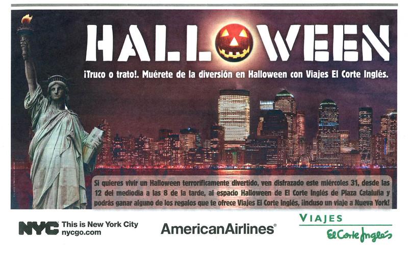 2012 AMERICAN AIRLINES - EL CORTE INGLÉS travel agency Spain (El Periódico)
