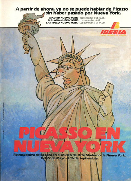 1980 IBERIA airlines Spain (Dunia) 'Picasso in New York'