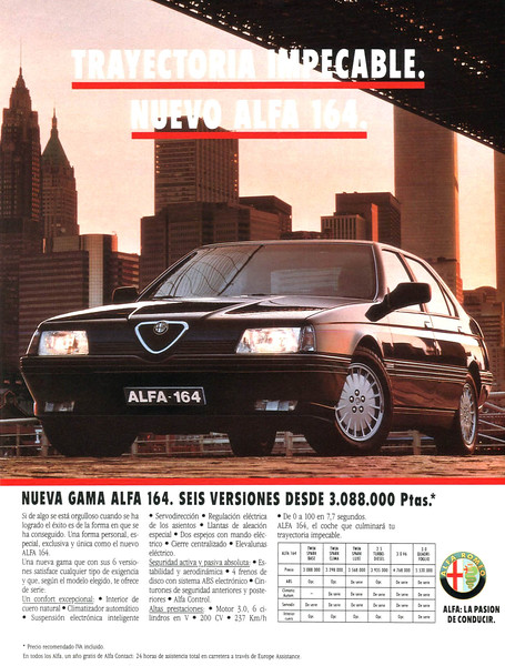 1990 ALFA ROMEO cars Spain (Muy Interesante)
