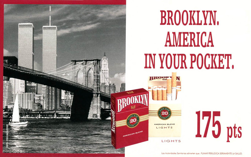 1995 BROOKLYN cigarettes Spain (half page Dominical)