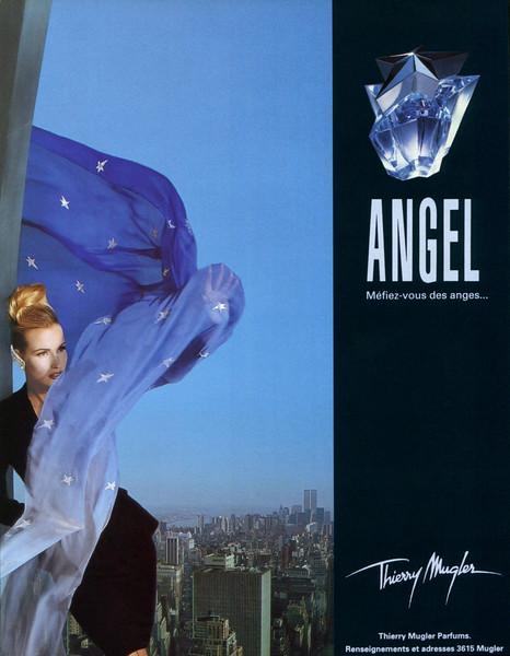 THIERRY MUGLER Angel 1994 France 'Méfiez-vous des anges... - Thierry Mugler Parfums. Renseignements et adresses 3615 Mugler'
