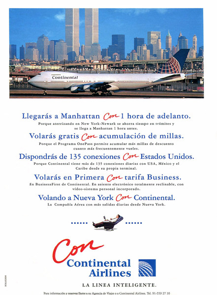 1994 CONTINENTAL AIRLINES Spain (El País Semanal)