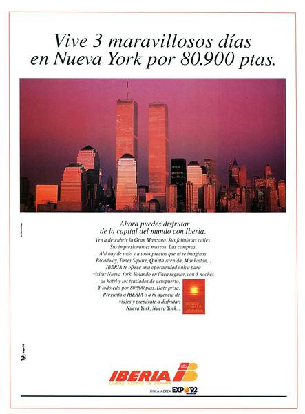 1992 IBERIA airlines Spain (Telva)