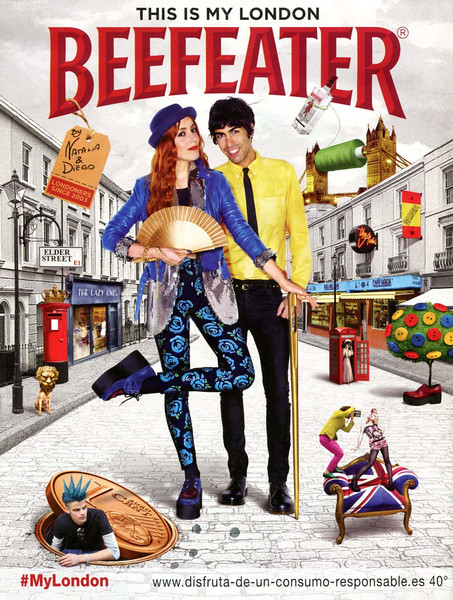 2014 BEEFEATER London gin Spain (Cuore) 'Natalia & Diego'