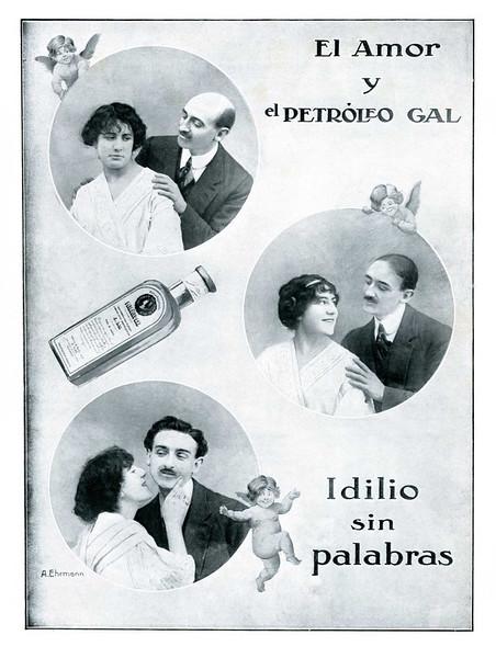 1913 GAL Petroleo hair growing lotion Spain (Mundo Gráfico)