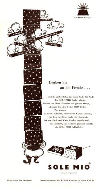 1959 SOLE MIO quilts Germany (Film & Frau)