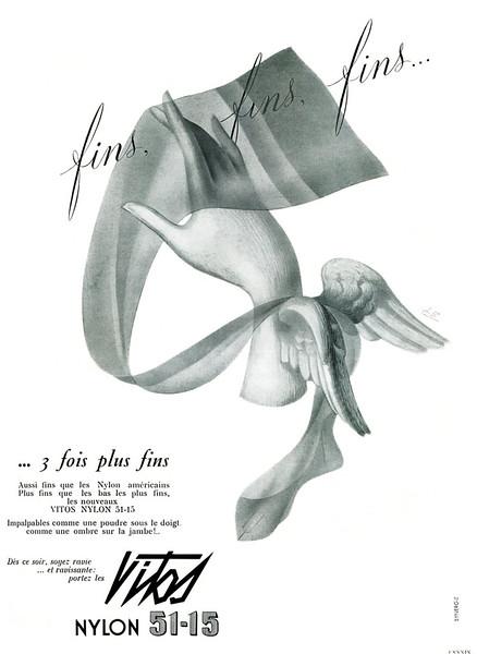 1949 VITOS nylon stockings France (Plaisir de France)