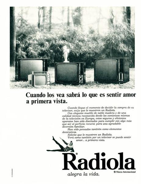 1970 RADIOLA TV sets Spain (La Actuadad Española)