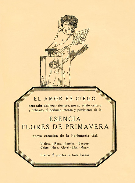 1923 GAL Flores de Primavera cologne Spain (Blanco y Negro)