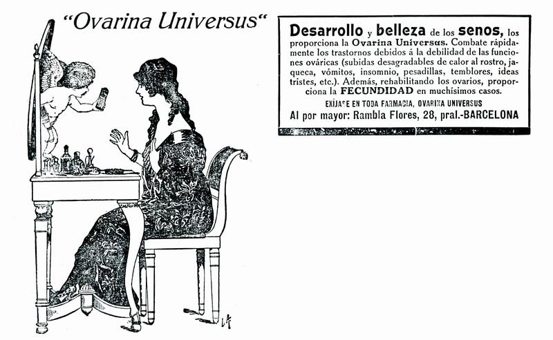 1920 OVARINA Universus medicine Spain (half page El Mundo Gráfico)