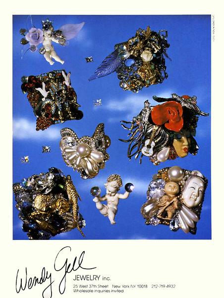 1985 WENDY GELL jewelry US photographer Ron Boszko