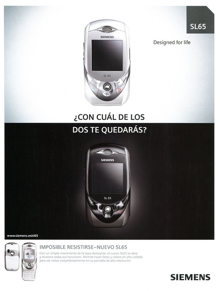 2005 SIEMENS cell phones Spain (Marie Claire)