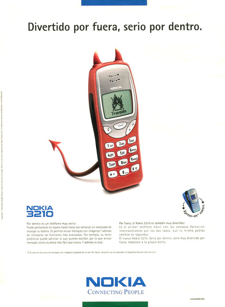 1999 NOKIA cell phones 3210 cell phones: Spain (Dominical)