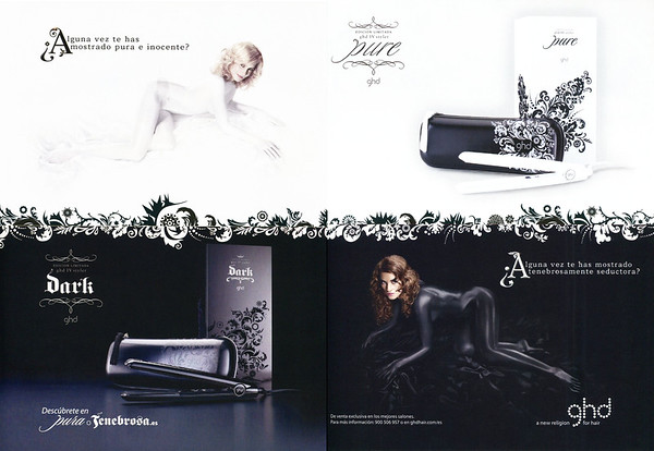 2008 GHD hair stylers Spain (spread Elle)