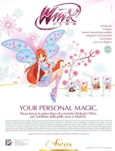 2009 WINX bio csmetics: Italy (Marie Claire)