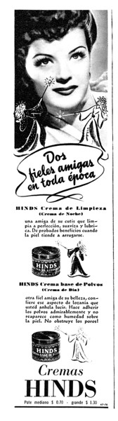 1944 HINDS hand cream: Argentina (thrd page Para Ti)