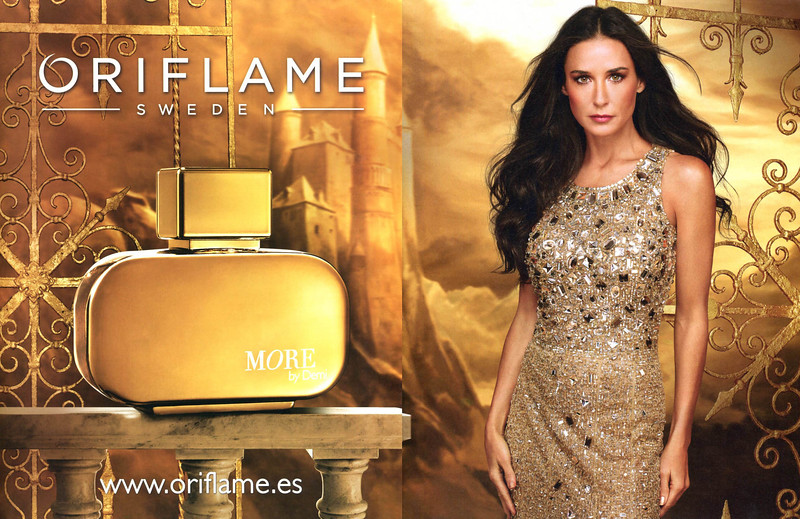 2013 ORIFLAME More by Demi fragrance Spain (spread Grazia)