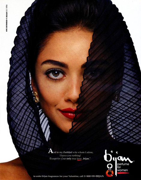 1994 BIJAN for Women fragrance US ;Niki Khalatbari;