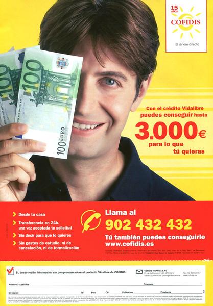 2007 COFIDIS consumer credits Spain (Pronto)